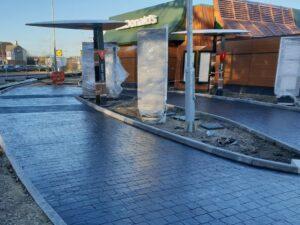 DCS McDonalds Harwich Printed Concrete Drive-Thru Lane