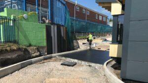 DCS Starbucks Bolton Printed Concrete Drive-Thru 1061