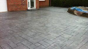 Ashlar Slate, Platinum Colour Printed Concrete Driveway