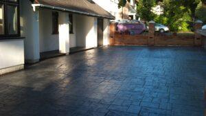 Ashlar Slate, Platinum Grey Printed Concrete Driveway