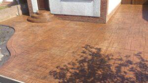 Rustic Sandstone Ashlar Slate Printed Concrete Driveway