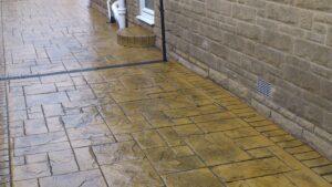 Purbeck Stone Ashlar Slate Printed Concrete Driveway
