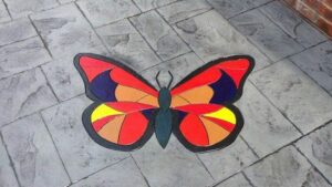 Printed Concrete Paving with Butterfly Feature