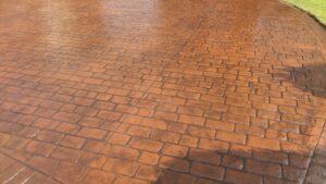 Rustic Sandstone Cheshire Cobble Printed Concrete Driveway
