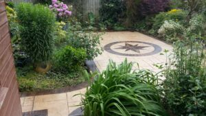 Printed Concrete Paths and Patios with Acid Etched Borders