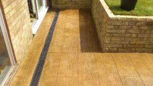 Printed Concrete Patio in Pacific Boardwalk Wood Effect