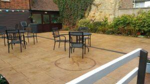Printed Concrete Patio Dining Area