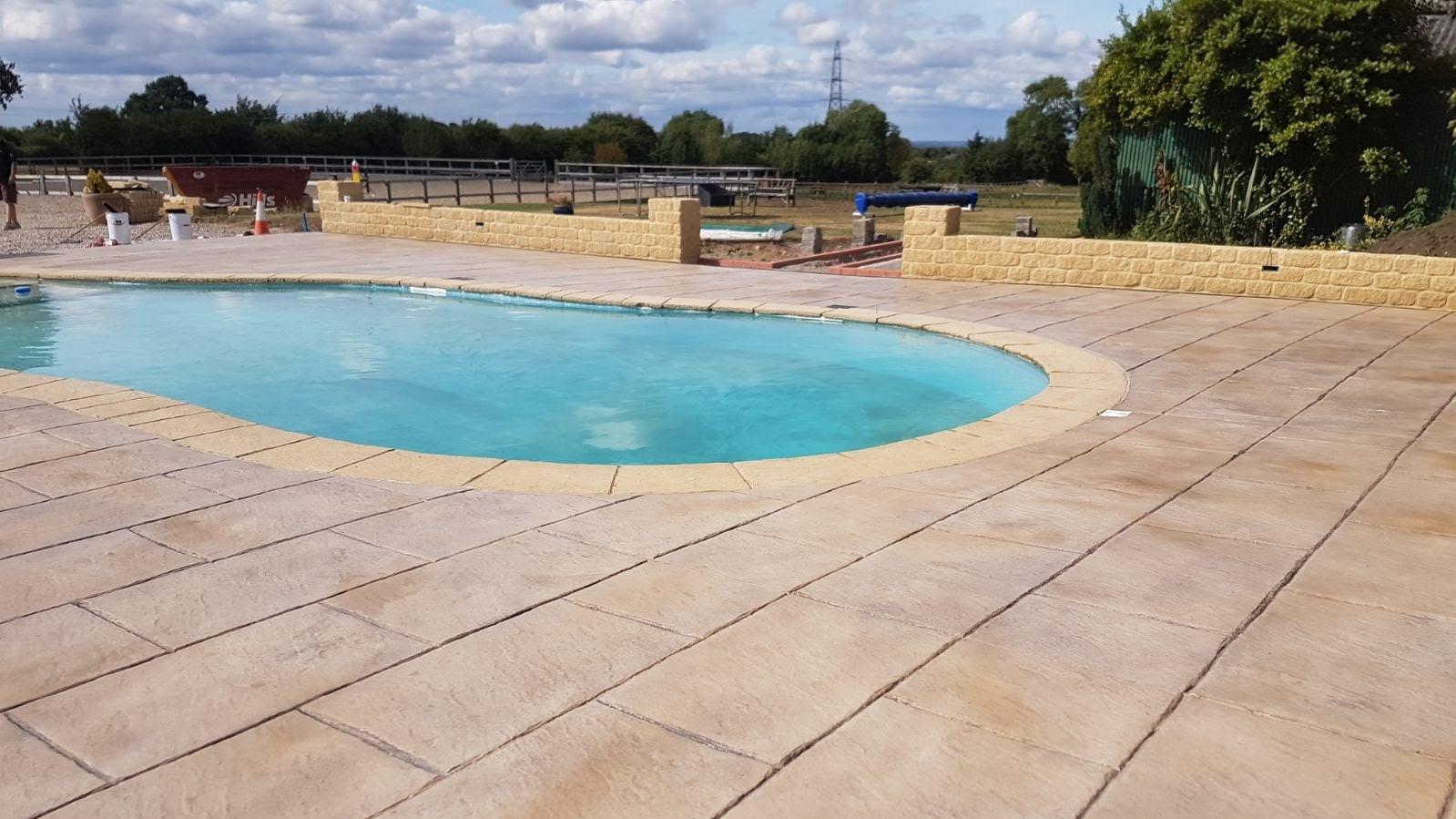 Printed Concrete Patio \u0026 Swimming Pool Surround & Gallery: Printed Concrete Patios \u2013 DCS