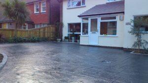 Charcoal Royal Ashlar Printed Concrete Driveway