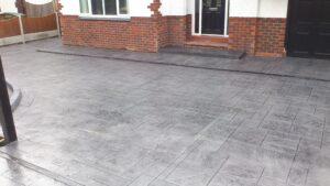 Platinum Royal Ashlar Printed Concrete Driveway