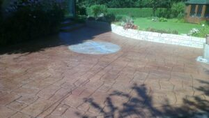 Printed Concrete Patio with Dragonfly Feature