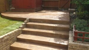 Printed Concrete Hand Carved Wood Effect Steps