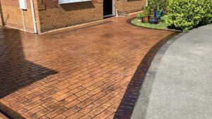 DCS Printed Concrete Driveway in Old English Cobblestone