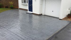 DCS Printed Concrete Driveway in Platinum Grey London Cobble