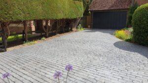 DCS Printed Concrete Driveway in Grey Belgian Block